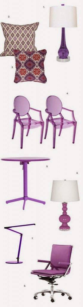Home Furnishings in 2014 Pantone Radiant Orchid