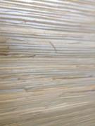 Beige Grasscloth Wallpaper with Sliver Metallic