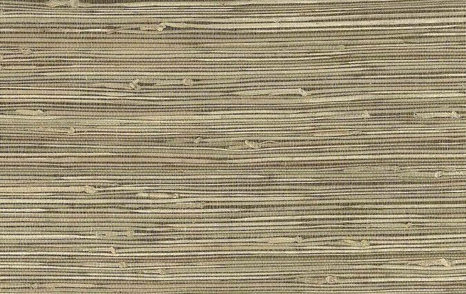 Dark Beige Grasscloth Wallpaper 15