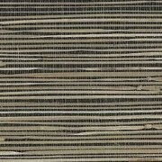 Black & Beige Grasscloth Wallpaper