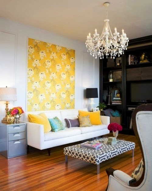 Focal Wall with Wallpaper
