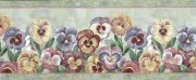 Alternate view of pansies wallpaper border