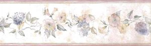 morning glories vintage wallpaper border