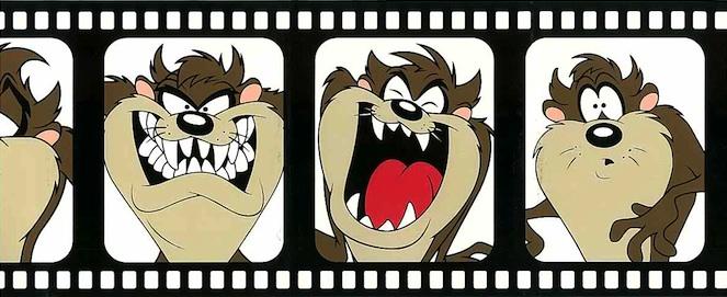Looney Tunes kids wallpaper border, brown, beige, white, bladk, self-adhesive