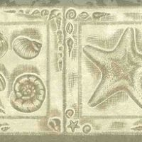 platinum nautical vintage wallpaper border,cream,textured,glazed,seashells,shells