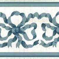Blue Ribbon Wallpaper Border by Waverly