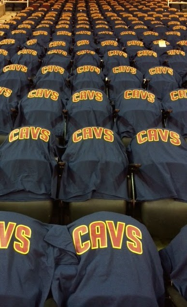 Cavs Shirts at Home Game