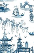Waverly toile oriental wallpaper