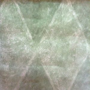 wallpaper green faux diamond pattern, white