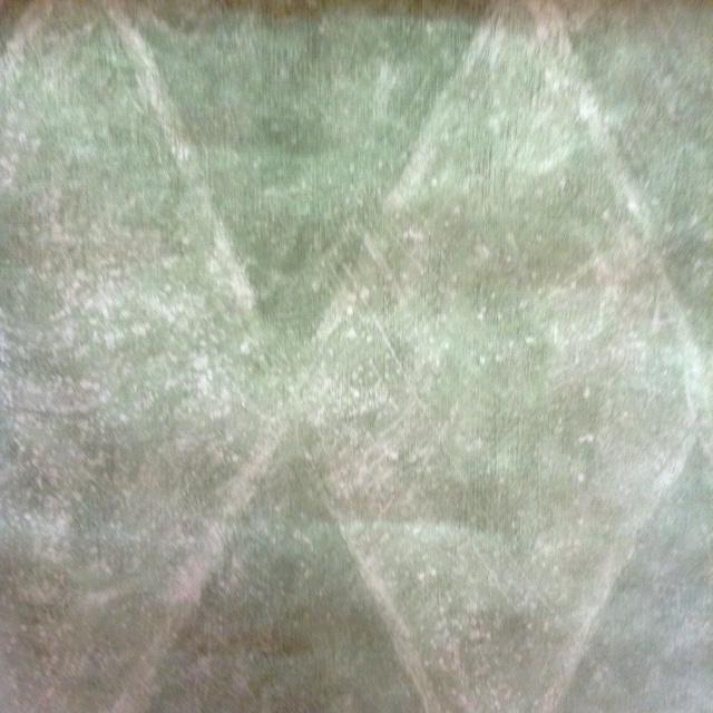 wallpaper green faux diamond pattern, white
