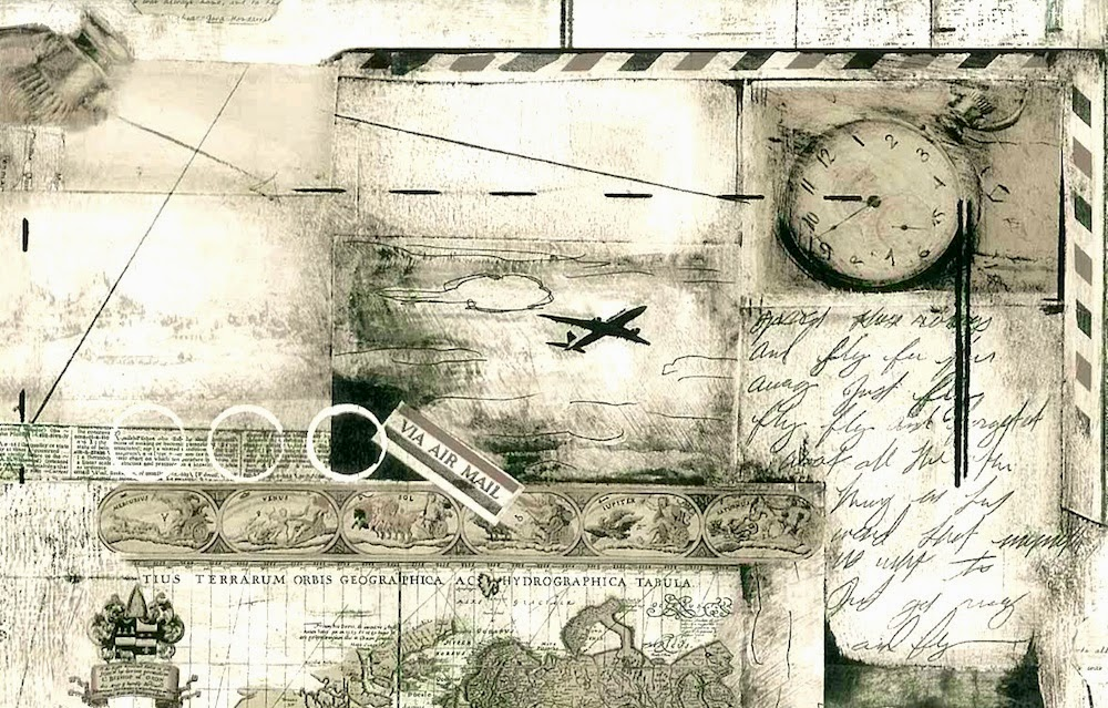 Airplane Travel Wallpaper Border Pattern