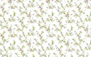 Roses cottage floral vintage wallpaper, lavender, green, blue, cream, faux finish