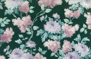 Green Floral Vintage Wallpaper Alternate