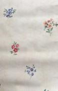 Summer floral wallpaper cottage style