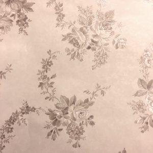 vintage floral wallpaper, beige, roses, embossed, textured, glazed