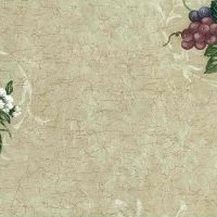 Grapes flowers wallpaper crackle finish,whitewash