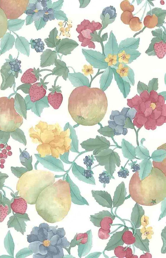 Anemones Pears Berries Wallpaper