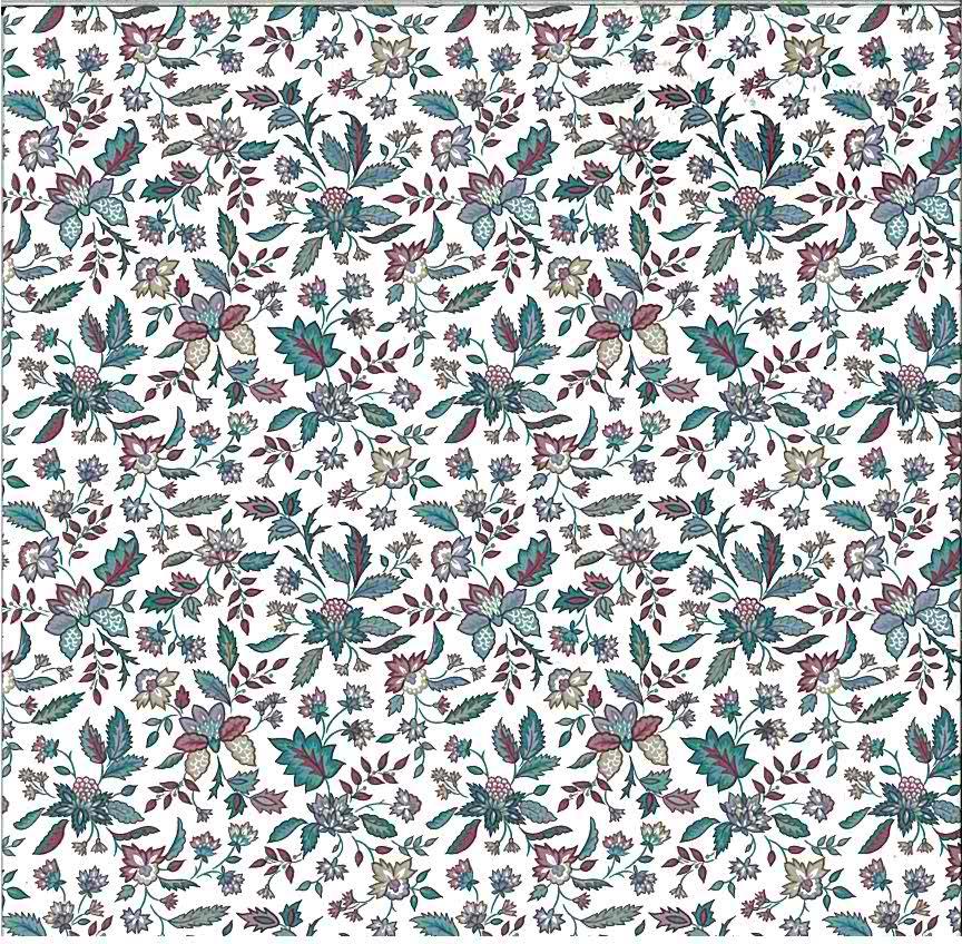paisley fuchsia vintage wallpaper, teal, fuchsia, beige, white, cottage style