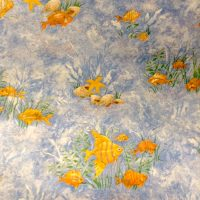 Bathroom reef wallpaper fish shells, water scene