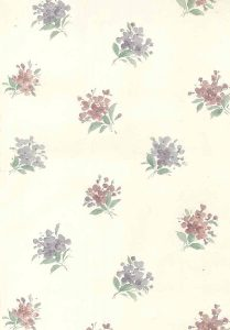 old-fashioned vintage wallpaper, floral, nosegayu, pink, lavender, cream, textured