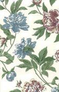 Peony like floral wallpaper