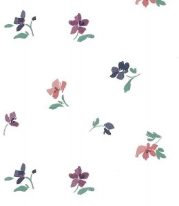 contemporary floral wallpaper, pink, purple, magenta, rose, green, lavender, off-white, cottage