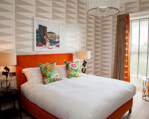 bedroom wallpaper geometrics botanical stripes,