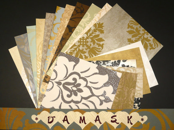 Damask Crafts & Scrapbooking Wallpaper Pak Example