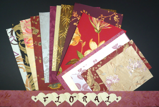 Floral Craft & Scrapbooking Paper Wallpaper Pak Example