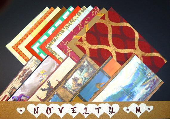 Novelty Masculine Craft & Scrapbooking Wallpaper Pak Example