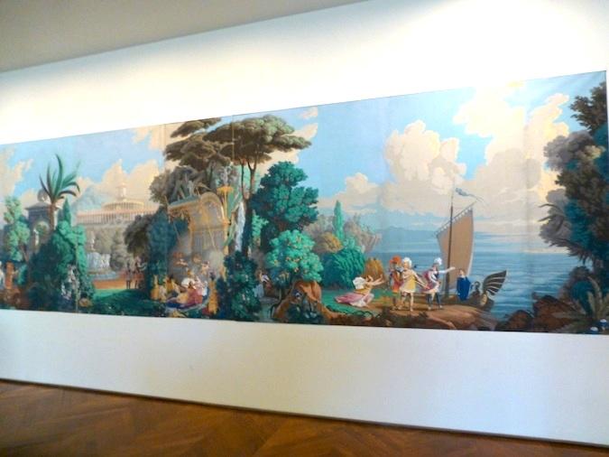 Wallpaper Mural as History lesson in Paris
