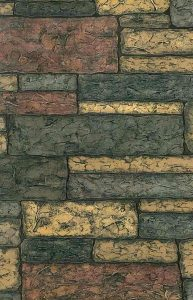 wallpaper faux stone texture, embossed, brown, gray, tan