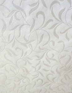 wallpaper white satin scroll tectured, cutout