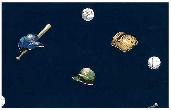 2013 world series Baseball Vintage Wallpaper Pattern with sports equipment