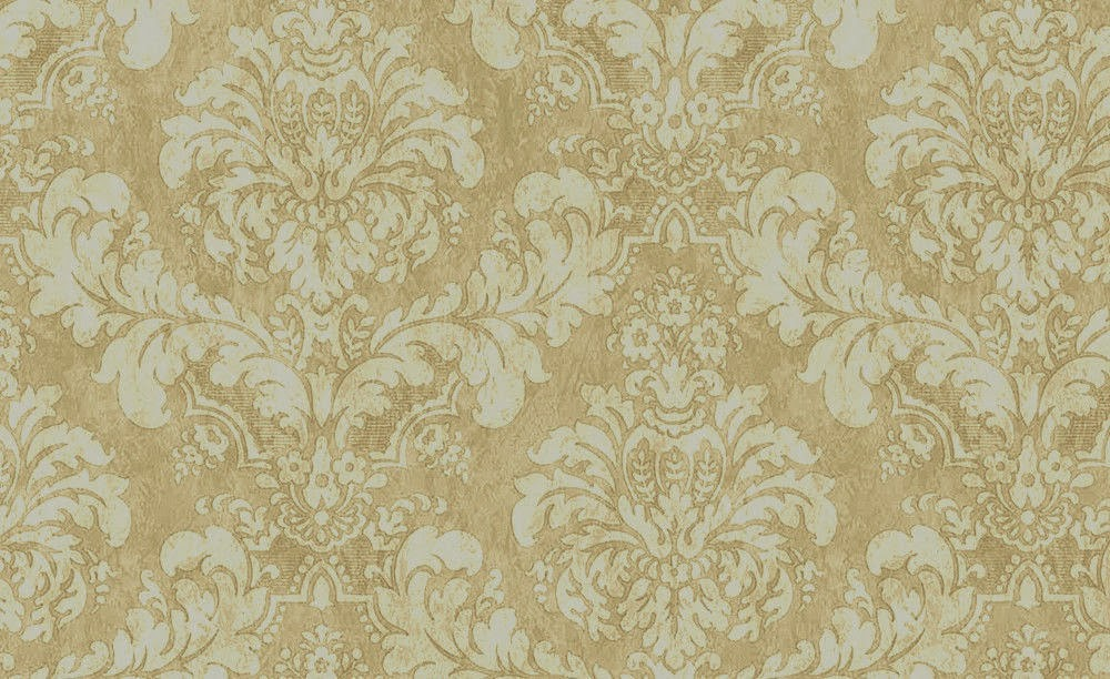 Vintage Cream Damask Wallpaper