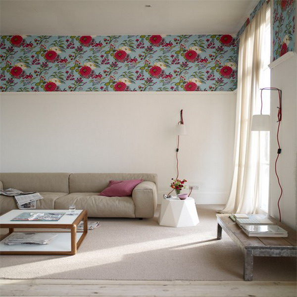 Vintage Wallpaper Border doubled for dramatic look