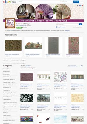 For the Love of Wallpaper ebay store design