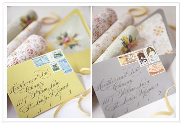 Wedding Invitation Envelopes using Walllpaper