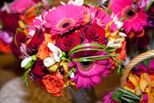 Radiant Orchid Floral Arrangement