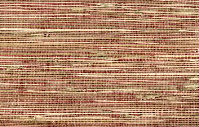 Grasscloth Wallpaper Double Rolls in Red and Beige