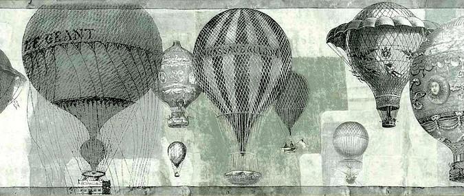 Hot Air Balloon Wallpaper Border Pattern