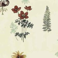 Waverly Botanical Vintage Wallpaper in Taupe