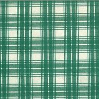 Vintage Green Plaid Wallpaper with Cream