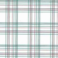 Vintage Green Red Plaid Wallpaper on White