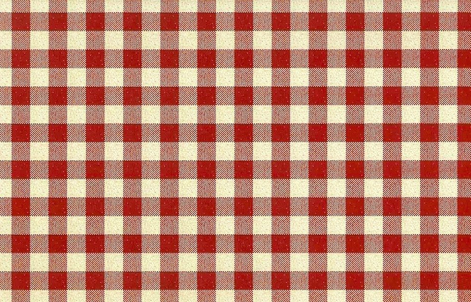Red and White Gingham Vintage Wallpaper