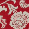 Red tones Damask Vintage Wallpaper