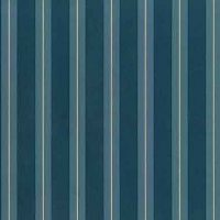 Teal Striped Vintage Wallpaper with Cream