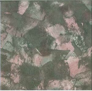 Green Marble Textured Vintage Wallpaper with Pink & Purple