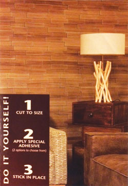 Wood plank wallcovering