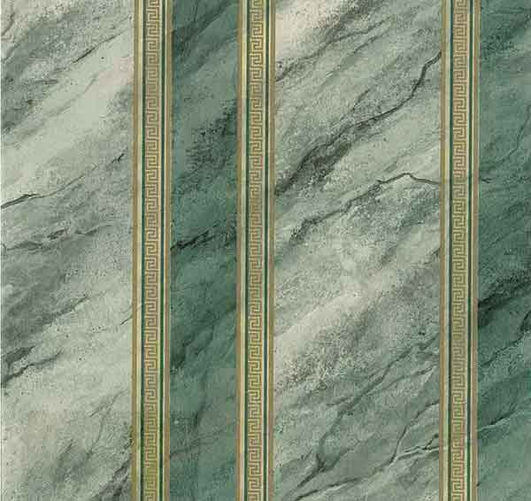 Green Marble Vintage Wallpaper Gold Stripe Faux Fx84092 D Rs